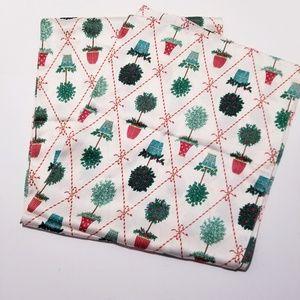  Talbots  Classic Christmas scarf 100% silk